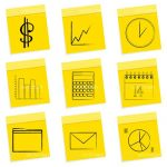 Post-it Style Business Icon Set