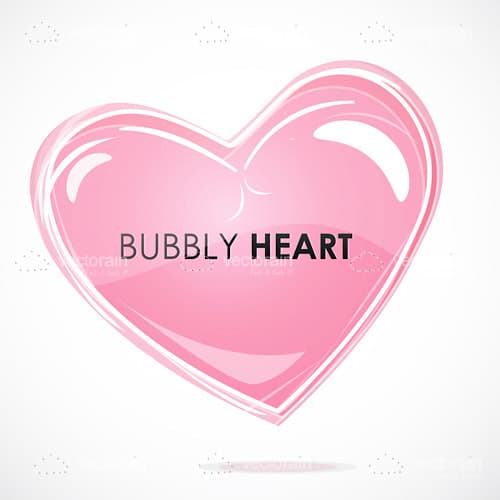 Glossy Pink Heart with Text