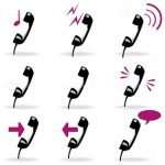 Telephone and Calls Icon Set