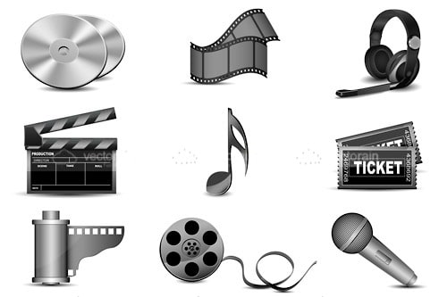 Film and Music Icon Set