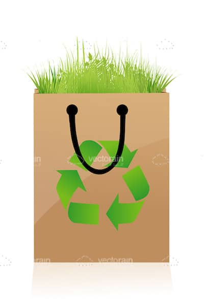 Brown Paper Recycling Bag
