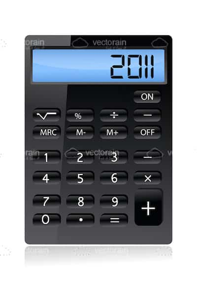 Glossy Black Calculator