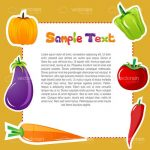 Colorful Background with Vegetables and Text Frame with Sample Text