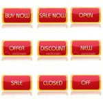 Shopping Terms Icon Set
