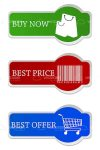 Colorful Tags with Shopping Symbols and Text