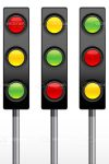 Set of Three Traffic Lights