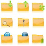 Computer Folders and Functions Icon Set