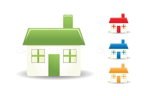 Colourful Home Icons 4 Pack