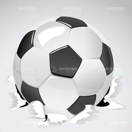 Soccer Ball Breaking the Floor