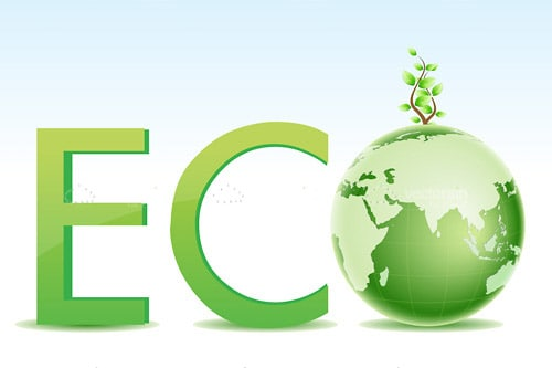 ECO Logo with Green Globe Icon - Vectorjunky - Free ...