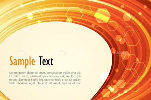 Abstract Orange Background with Sample Text