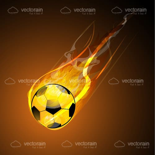 Scorching Football on Orange and Black Background