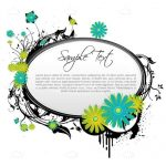 Floral Vector Background with Sample Text