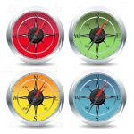 Colourful Compass Icons 4 Pack