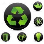 Recycle Symbols Badges Set