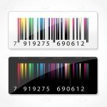 Colorful Barcodes with Black and White Backgrounds