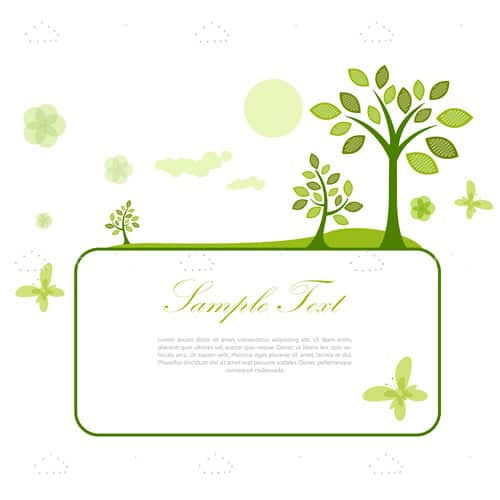 Abstract Natural Scenic Card with Sample Text