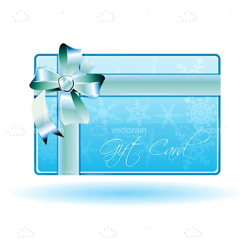 Glossy Gift Card with Ribbon and Bow