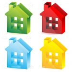 Colorful Abstract House Icons