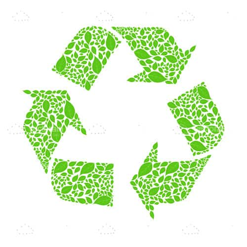 green recycle symbol vectorjunky free vectors icons