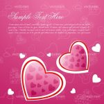Pink Romance Background with Hearts and Sample Text