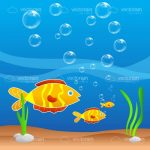 Cartoon Fish in Water Card