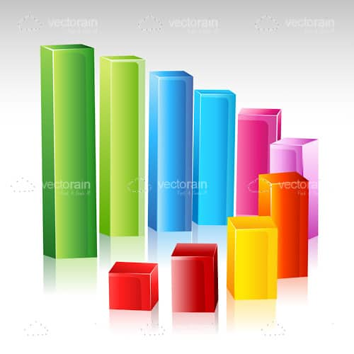 Colorful Glowing Growing Growth Chart