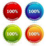 Colourful 100% Satisfaction Guaranteed Logos