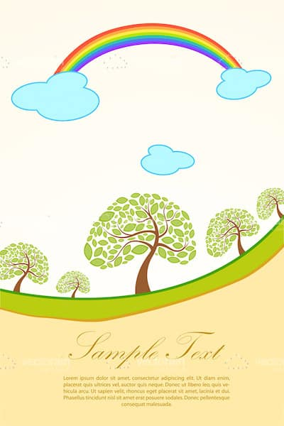 Illustrated Natural Landscape with Sample Text