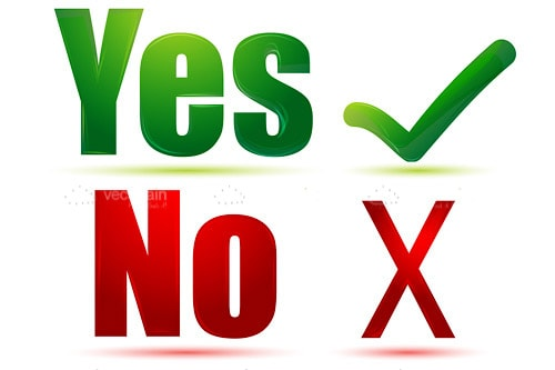 Yes And No Text With Tick And Cross Symbols Vectorjunky Free