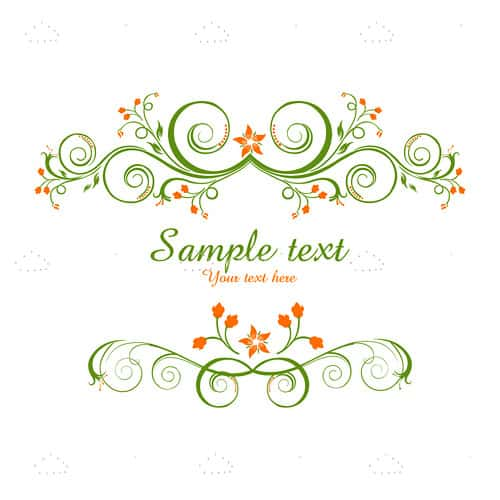 Elegant Floral Design with Sample Text