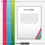 Bright Background with Multicolor Bands and Sample Text