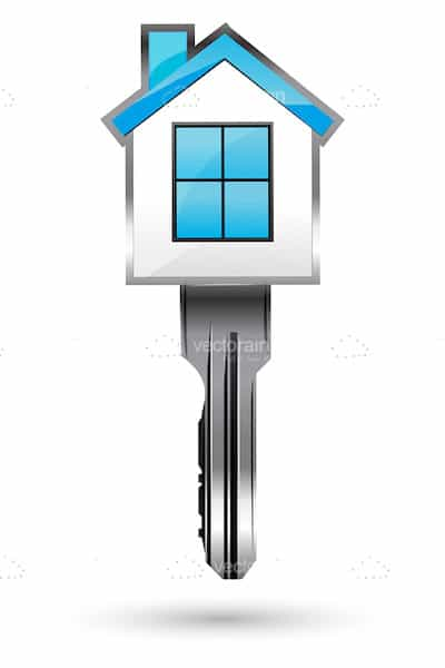 Abstract House Key Design