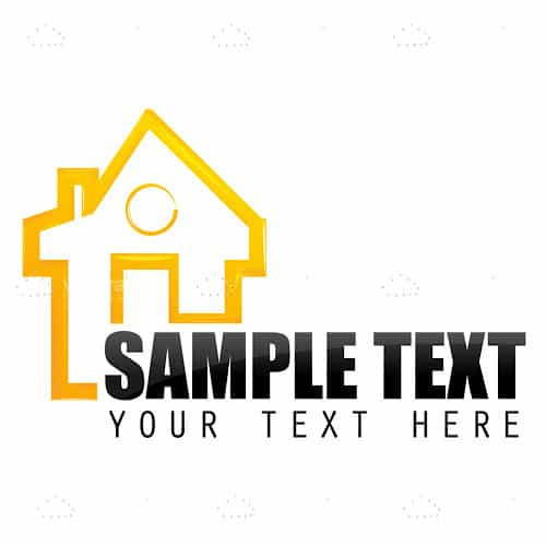 Abstract House with Sample Text