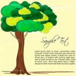 Leafy Green Tree with Sample Text