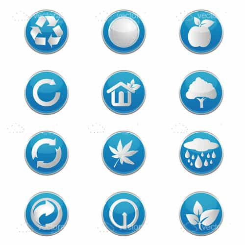Blue Modern Recycling Icons