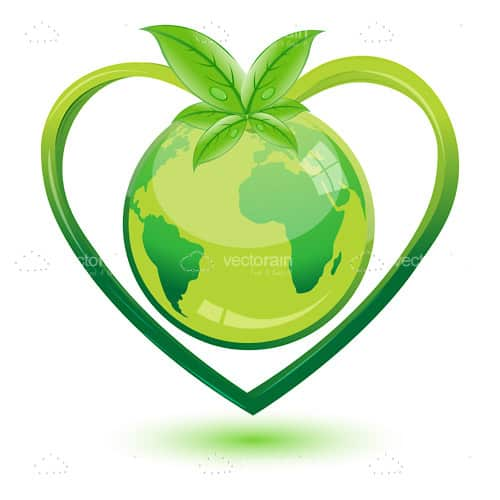 Green World in Heart