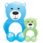 Cute Pair of Green and Blue Teddy Bears