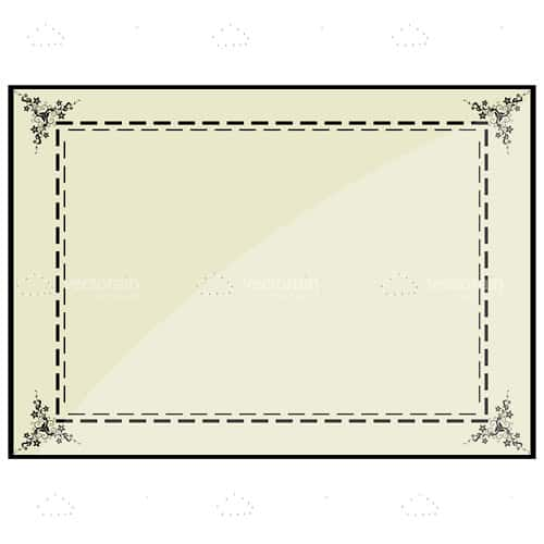 Simple Frame with Minimal Floral Pattern