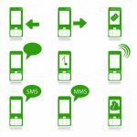 Mobile Functions Icon Set