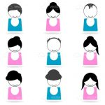 Abstract People Icons with Different Hairstyles