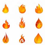 Different Fire Flames Icon Set