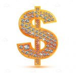 Dollar Sign in Gold and Diamonds
