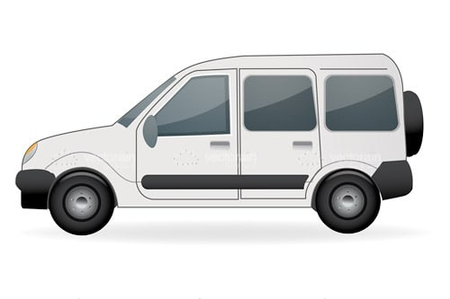 Illustrated Minivan Vehicle