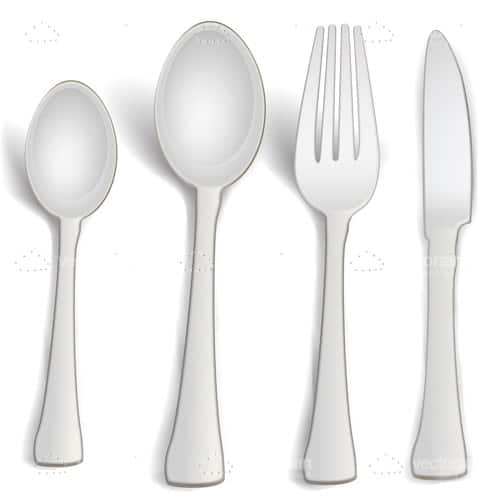 Cutlery Set in Light Grey