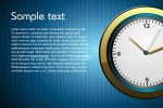 Modern Clock Background with Sample Text