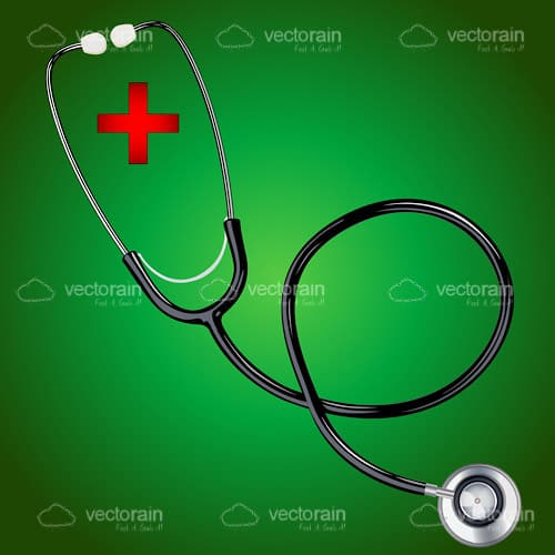First Aid Stethoscope with Green Background