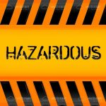 Bright Orange and Black HAZARDOUS Background