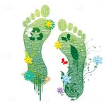 Abstract Footprints with Ecologic Theme