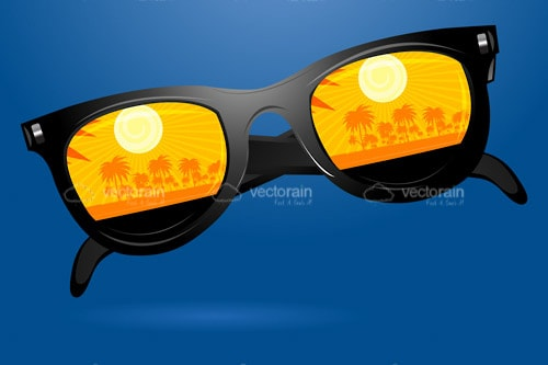 Black Sunglasses with Yellow Lenses